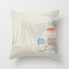 Still Life in Green Throw Pillow