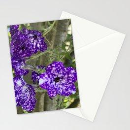 Purple and White Petunias Stationery Cards
