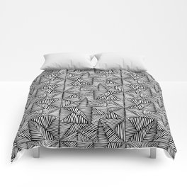 Squares and Triangles Comforters