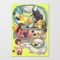 spirited away Canvas Prints featuring Spirited Away by KEL H