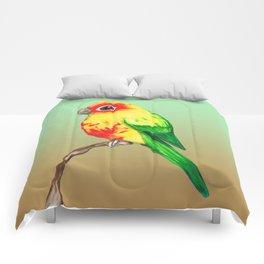 Cute sun conure Comforters
