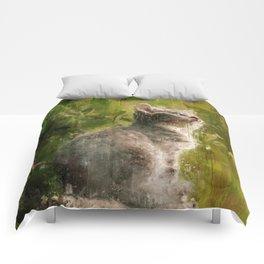 Cute abstract kitten Comforters