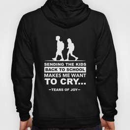 Funny Back to School art for Mom, Dad & Parents Dark Hoody