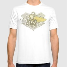 Fearless Creature: Chimpy White MEDIUM Mens Fitted Tee