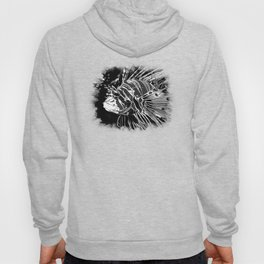 lionfish vector art black white Hoody