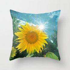 Sunflower. Vintage Throw Pillow