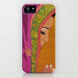 Henna Prayer Hands iPhone Case