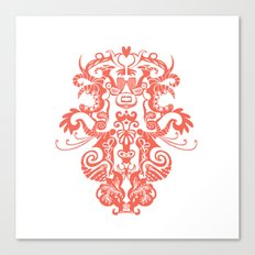 Harmony in Red Canvas Print