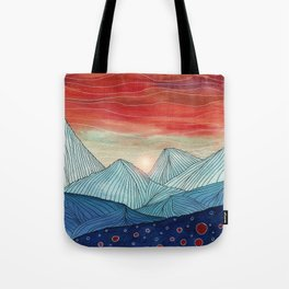 Lines in the mountains IV Tote Bag