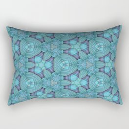 Cyan & Lavender Pattern Rectangular Pillow