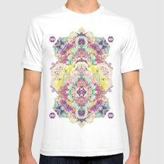 Opal with phantoms  MEDIUM White Mens Fitted Tee