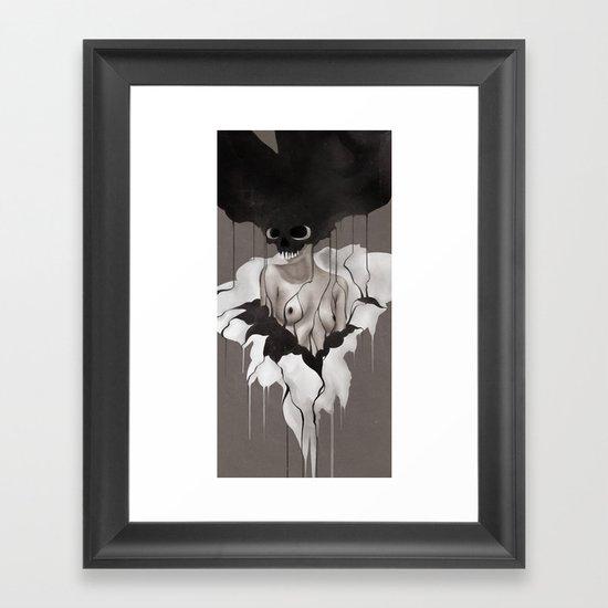 Death By Chocolate Monochrome Framed Art Print