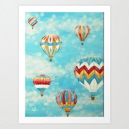 Hot Air Balloons 1 Art Print