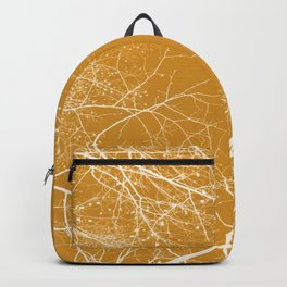 Branches Impressions on Yellow Backpack