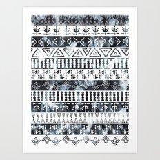 PRIYA Stripe {B&W} Art Print