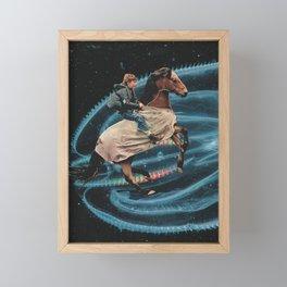 RIDER Analog Collage Framed Mini Art Print