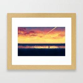 Sunset walk Framed Art Print