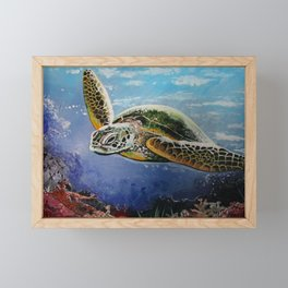 Sea Turtle Framed Mini Art Print