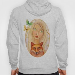 Girl with Red Fox Hoody