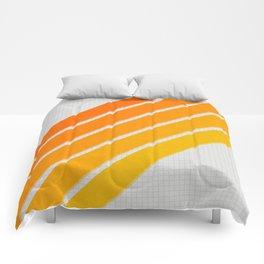 Orange Color Drift Comforters