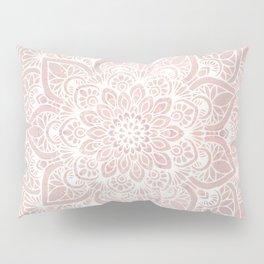 Mandala Yoga Love, Blush Pink Floral Pillow Sham