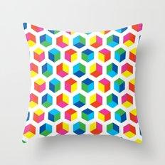 Cube pattern Throw Pillow