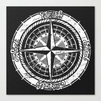 Compass Rose Canvas Print