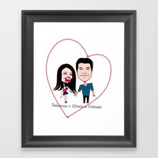 Rebecca Black and Simon Cowell are Friends Framed Art Print