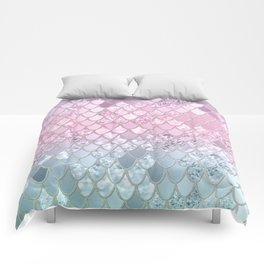 Mermaid Glitter Scales #2 #shiny #decor #art #society6 Comforters