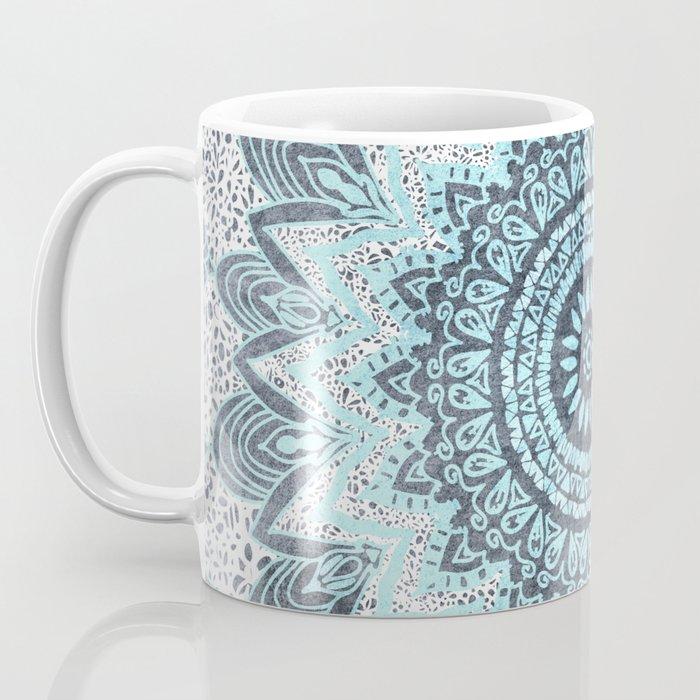 BOHOCHIC MANDALA IN BLUE Coffee Mug