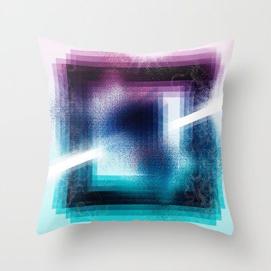 """Prisim"" by Justin Hopkins Throw Pillow"