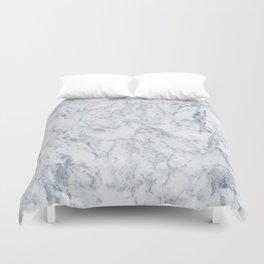 Vintage elegant navy blue white stylish marble Duvet Cover