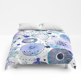 Inky Floral Comforters