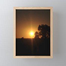 Sunset Inclusion Framed Mini Art Print