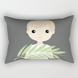 Palm Sunday Boy Angel Rectangular Pillow