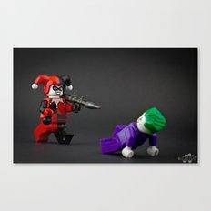 Harley is pure trouble Canvas Print