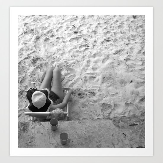 Lady on the Beach Art Print