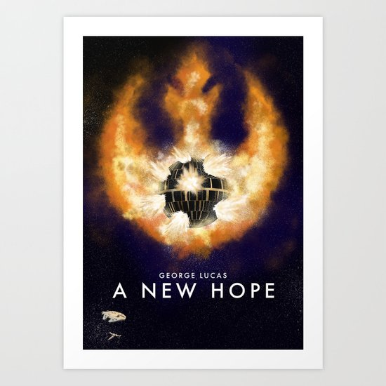 Death Star Destruction Art Print