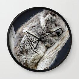 Sleepy Time Koala Wall Clock