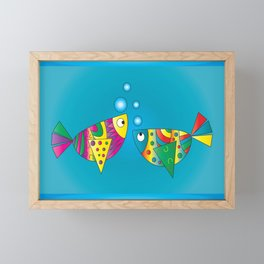 Fishy Fishy Framed Mini Art Print
