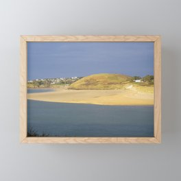 DAYMER BAY ACROSS CAMEL ESTUARY FROM PADSTOW CORNWALL Framed Mini Art Print