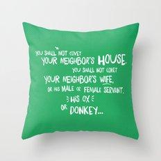 The Tenth Commandment Throw Pillow