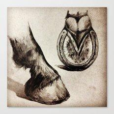 Horse Feet Canvas Print