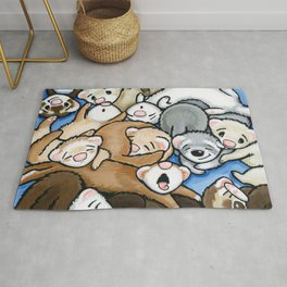Wall to Wall Weasels Rug