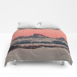 SUNSET AT THE GRAND TETONS Comforters