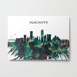 Alicante Skyline Metal Print