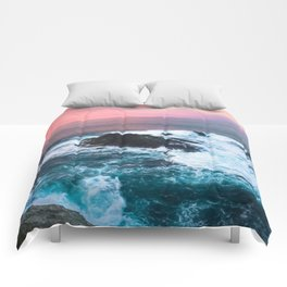 Sunset on the Bay of Biscay Comforters