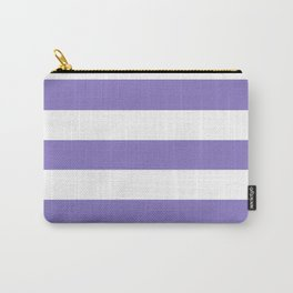 Ube - solid color - white stripes pattern Carry-All Pouch