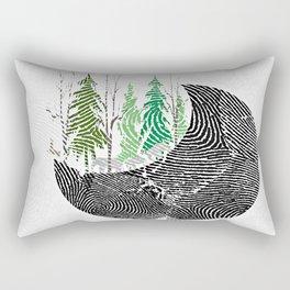 Our fingerprint on earth Rectangular Pillow
