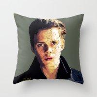 bill Throw Pillows featuring Bill by Aubrey Meeks